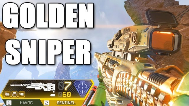 so i found the GOLDEN SENTINEL in apex legends..