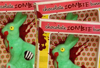 zombie chocolate easter bunny 349x240 - Chocolate Zombie Easter Bunnies! Mmmmm...