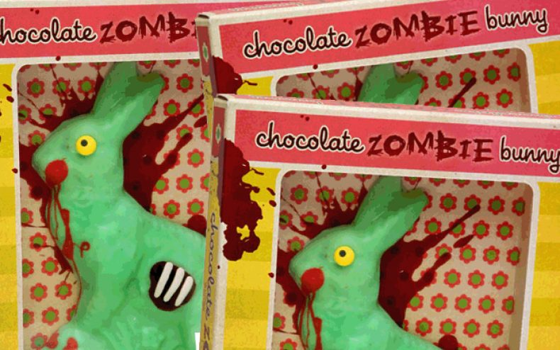 zombie chocolate easter bunny 790x494 - Chocolate Zombie Easter Bunnies! Mmmmm...