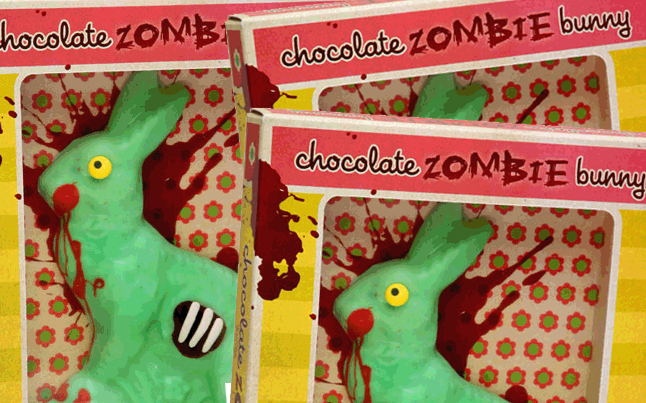 Chocolate Zombie Easter Bunnies