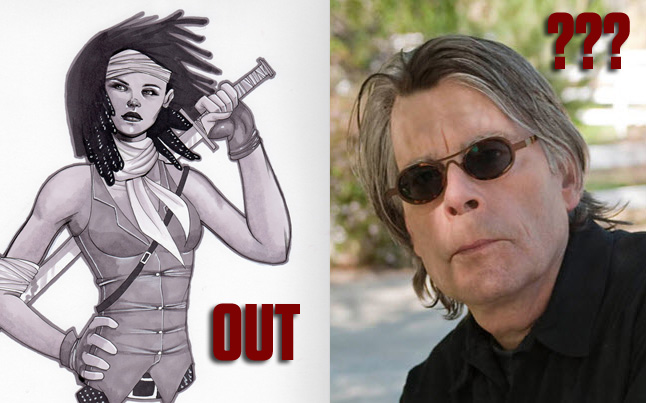 stephen king the walking dead - Stephen King possible while Michonne out for Season 2