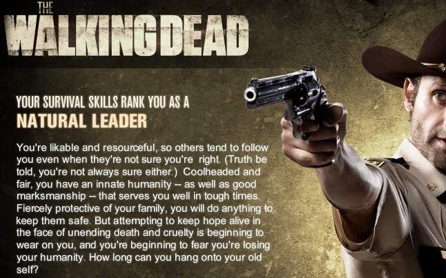 the walking dead natural leader - The Walking Dead Android App