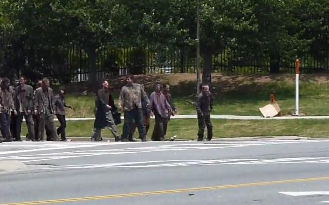 zombies season 2 filming - Video Of The Walking Dead Season 2 Filming