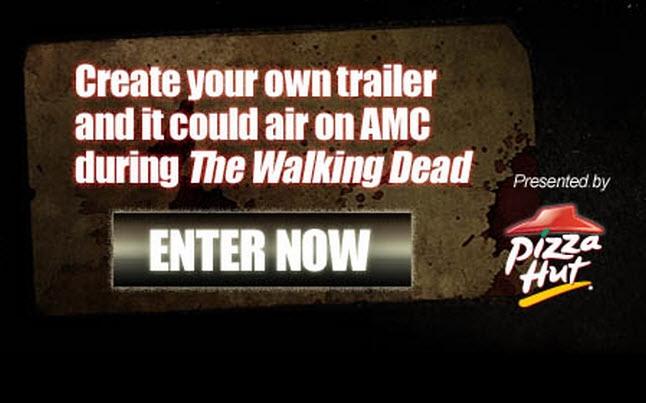 pizza hut walking dead contest - The Walking Dead Pizza Hut Trailer Contest