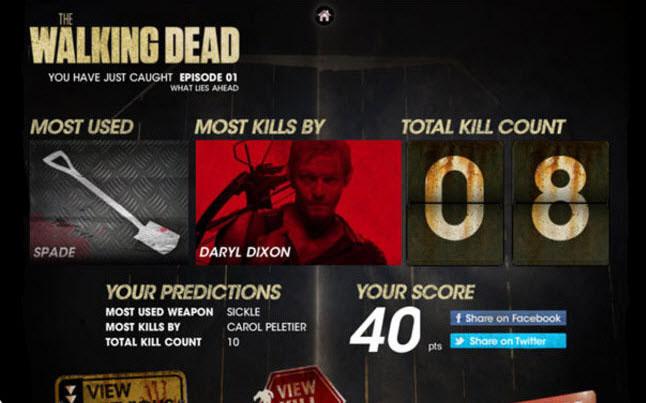 the walking dead kills predictor app - The Walking Dead Launching Kill Predictor Phone App