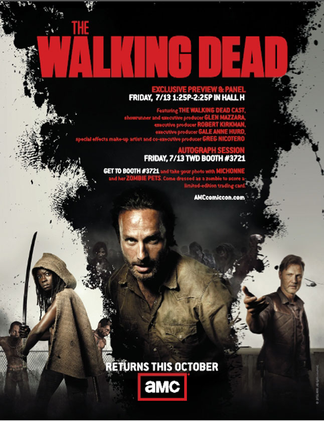 Comic Con Walking Dead Poster