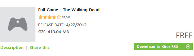 Walking Dead Game Xbox Game