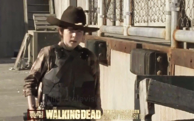Season 3 of The Walking Dead with Carl