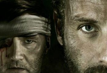 eye for an eye poster 349x240 - Walking Dead Season 3 Poster Featuring Rick And The Governor