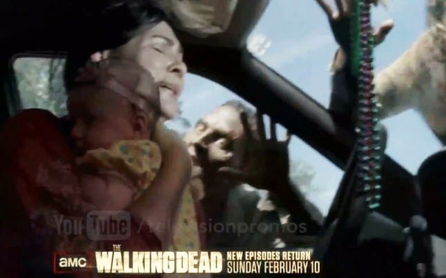 Season 3 of The Walking Dead with Maggie and Judith