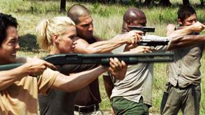 walking dead gun fire - The Walking Dead's Opinion on Gun Control