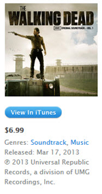 iTunes Walking Dead Soundtrack