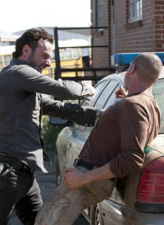 rick grimes shane walsh - The Walking Dead Terrorizes Television with Political Incorrectness and Violence