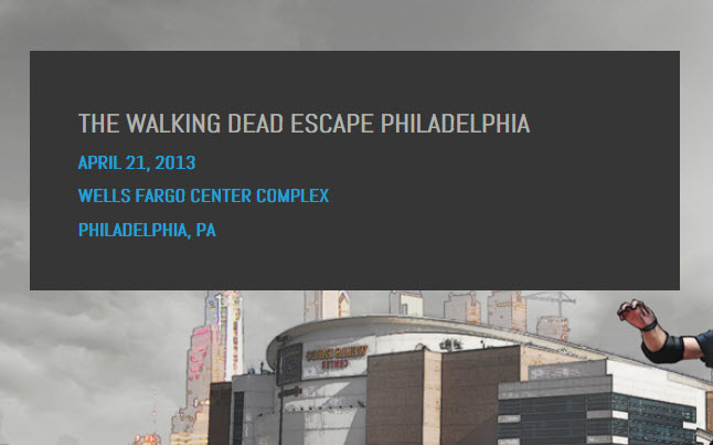 walking dead escape philadelphia - The Walking Dead Escape In Philadelphia This Sunday