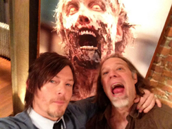 norman reedus - Filming For Season 4 Of The Walking Dead Has Started