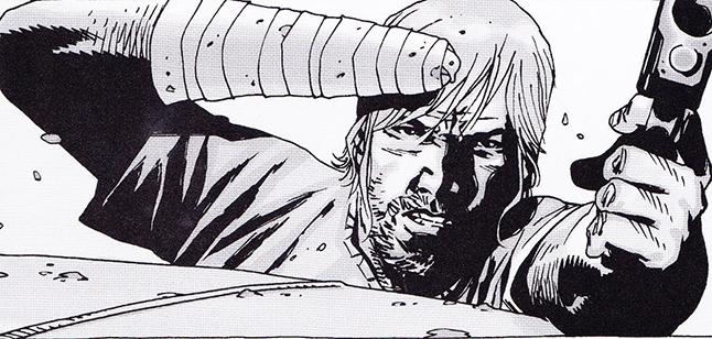 ricks comic hand injury - The Walking Dead Spoilers: Photo's of Rick's Hand Injury