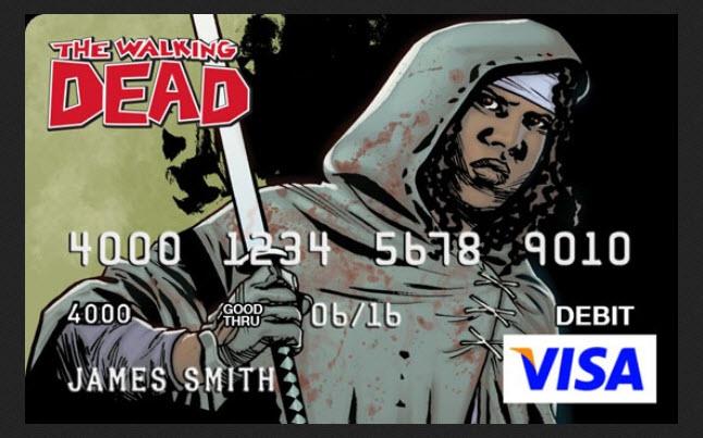 the walking dead debit cards - The Walking Dead Debit Cards Featuring Charlie Adlard Artwork