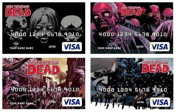 walking dead debit cards - The Walking Dead Debit Cards Featuring Charlie Adlard Artwork