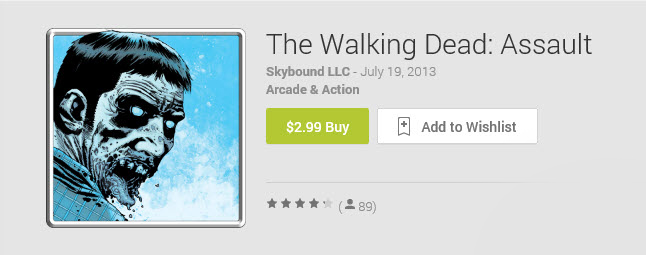 Google Play Walking Dead Assault