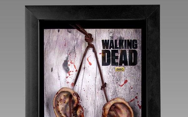 daryl dixon walker ears replica - Daryl Dixon Walker Ears Collectible Display Case