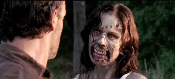 Rick and Zombie Lori