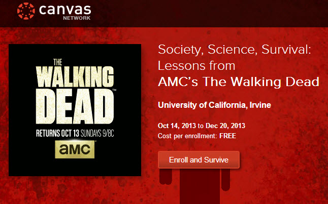 the walking dead course - Walking Dead Course Offered By UC Irvine