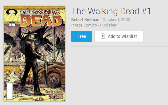 the walking dead free comic - The Walking Dead Comics Now Available On Google Play Books