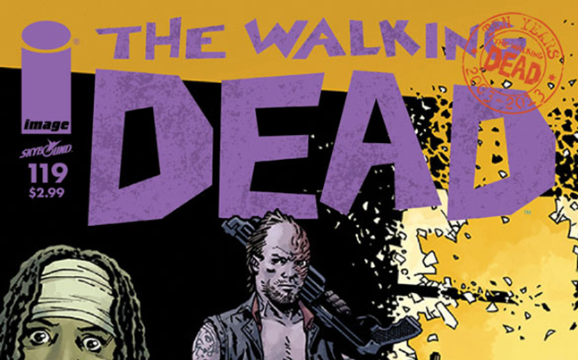the walking dead 119 cover - The Walking Dead Comic #119 Sneak Peek