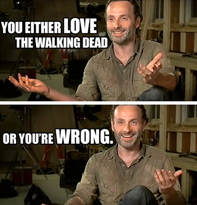 funny Walking Dead Carl TV - You Either Love The Walking Dead