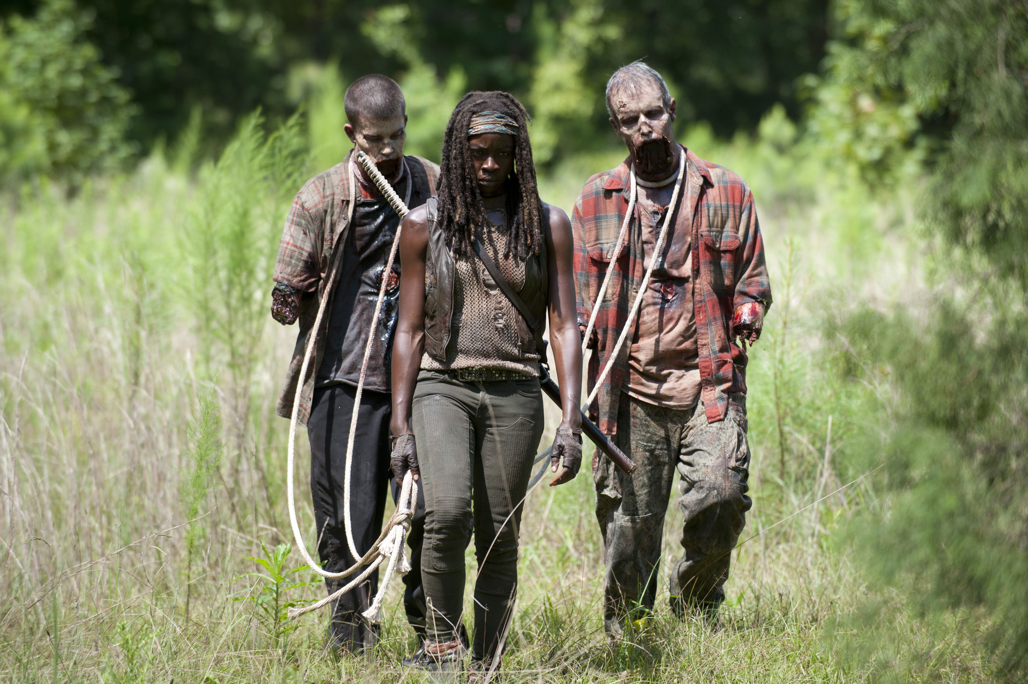 "walking dead season 4 episode 9 michonne - Danai Gurira on What Drives Michonne in ""After"""