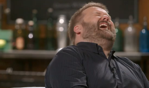 Robert Kirkman Laughing