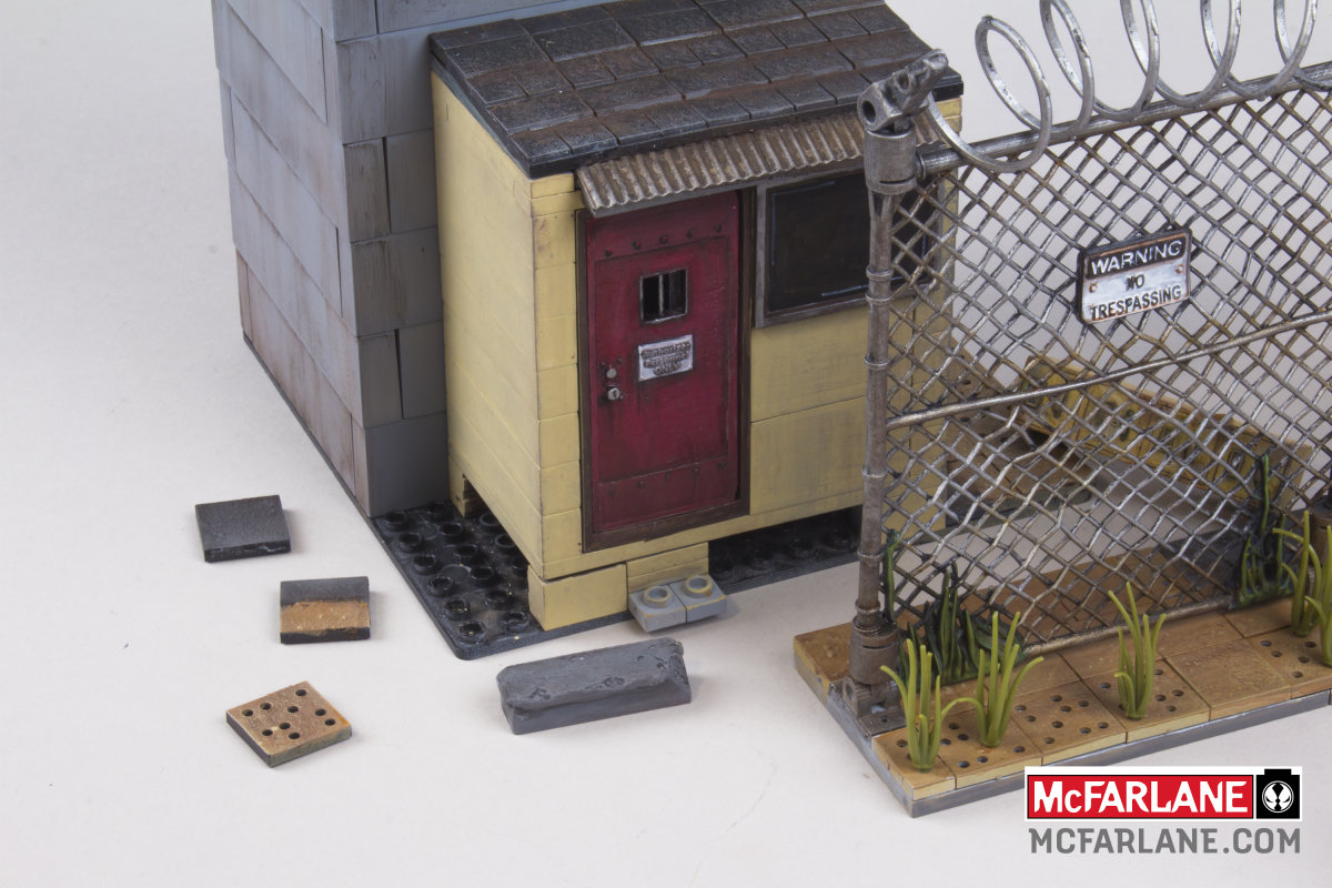 PRISON TOWER 05 - The Walking Dead Brick Building Sets Coming From McFarlane Toys