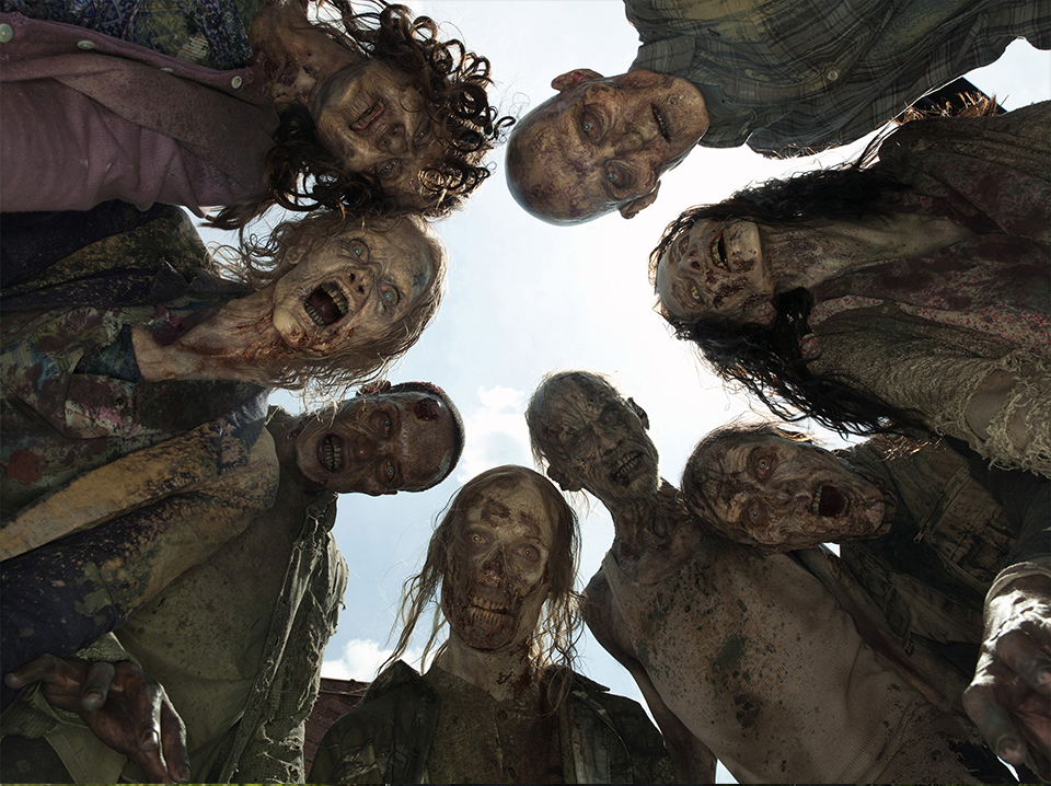 AMC TWD Gallery  Zombies Upshot 1745gn V1 - The Battle Over The Walking Dead Restaurant Continues