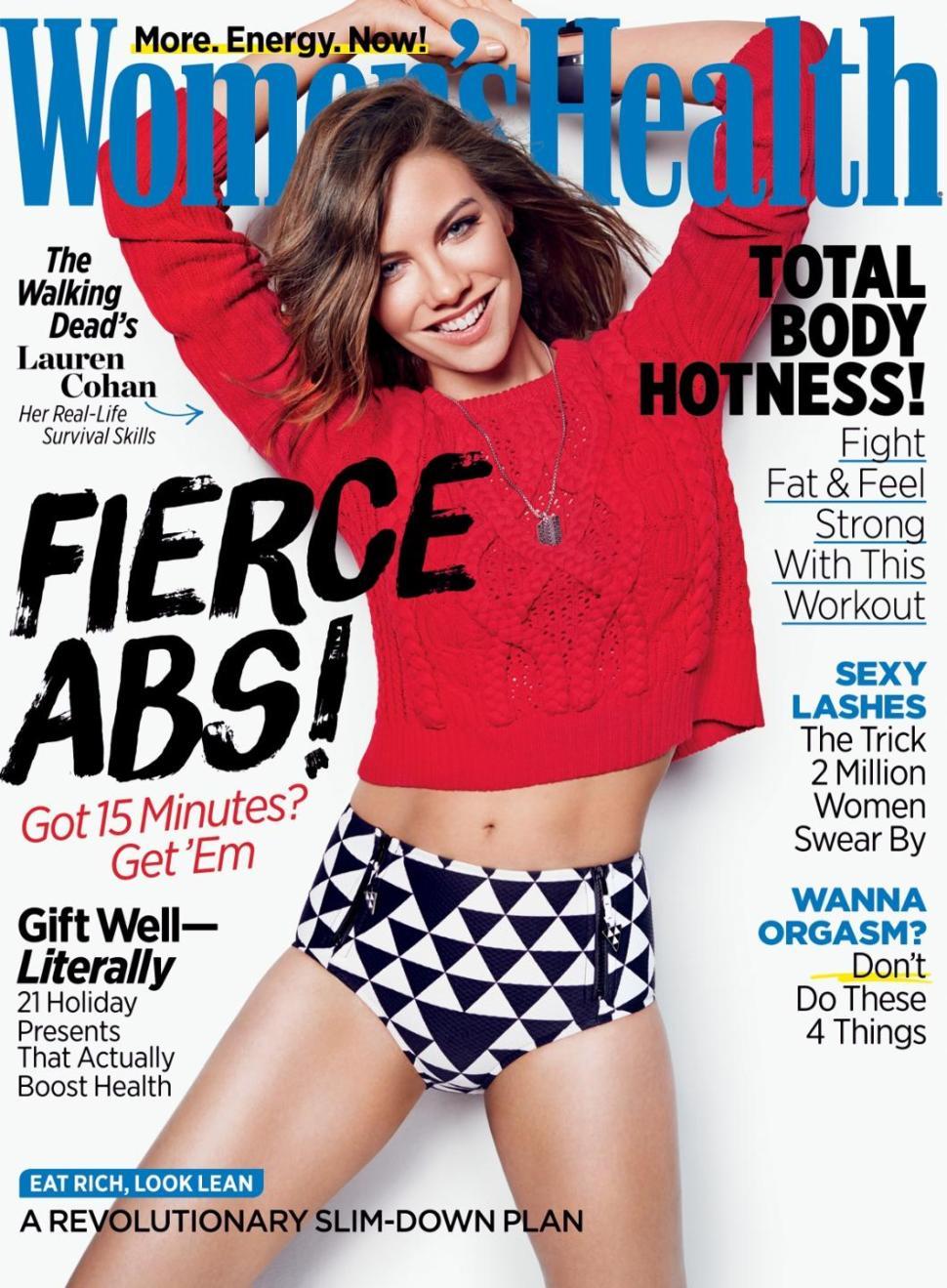 cohan12f 3 web - Lauren Cohan Dazzles in New Women's Health Cover Story