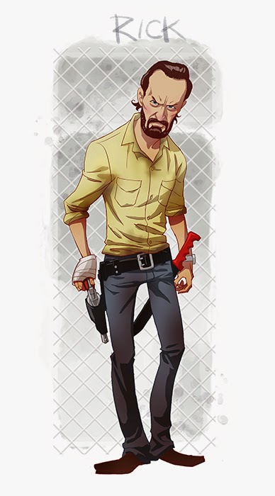 Rick toon - Five Amazing Cartoon-Style Walking Dead Characters