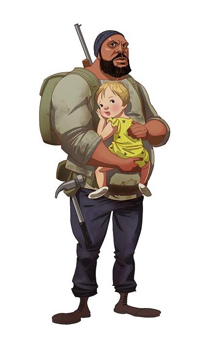 Tyreesel toon - Five Amazing Cartoon-Style Walking Dead Characters