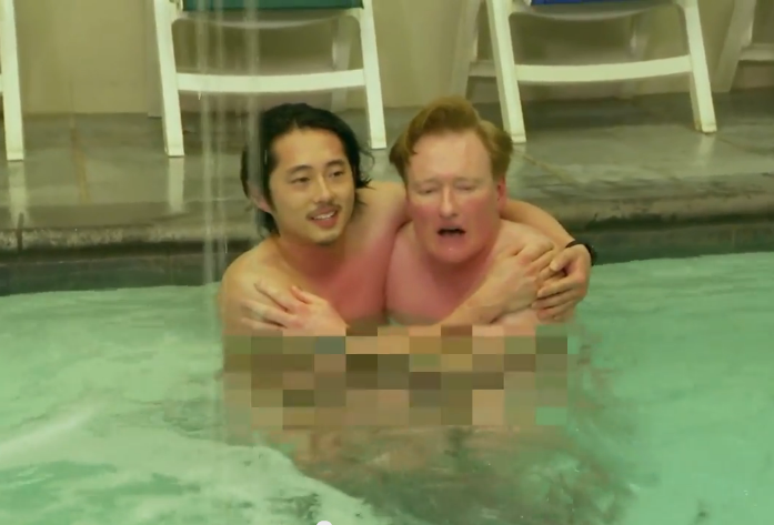 conansteven - Steven Yeun and Conan O'Brien Make Naked Friends at Korean Spa