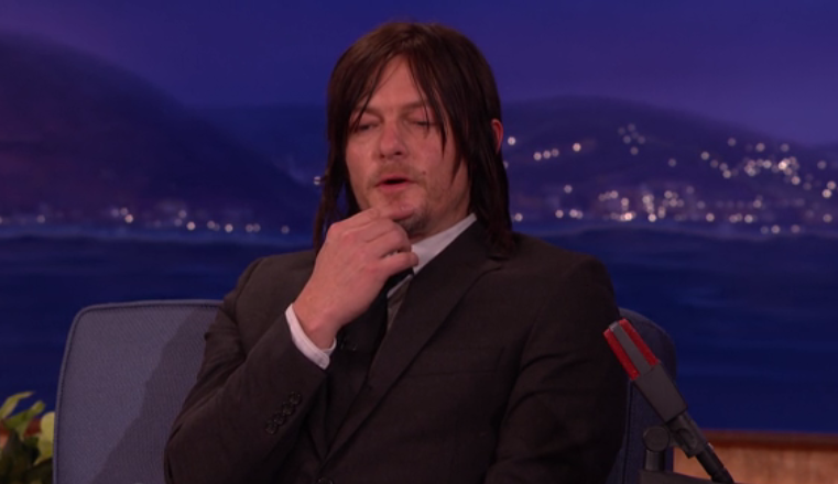 "reedusconan - Norman Reedus Tells Conan He Would ""Rock"" a Gay Daryl Storyline"
