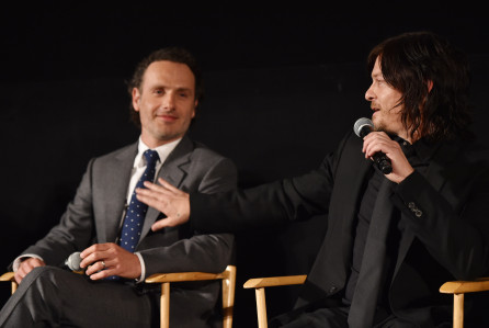 twd14 - AMC Panel: Andrew Lincoln Wants To Be Herschel, Kirkman Axed Zombie