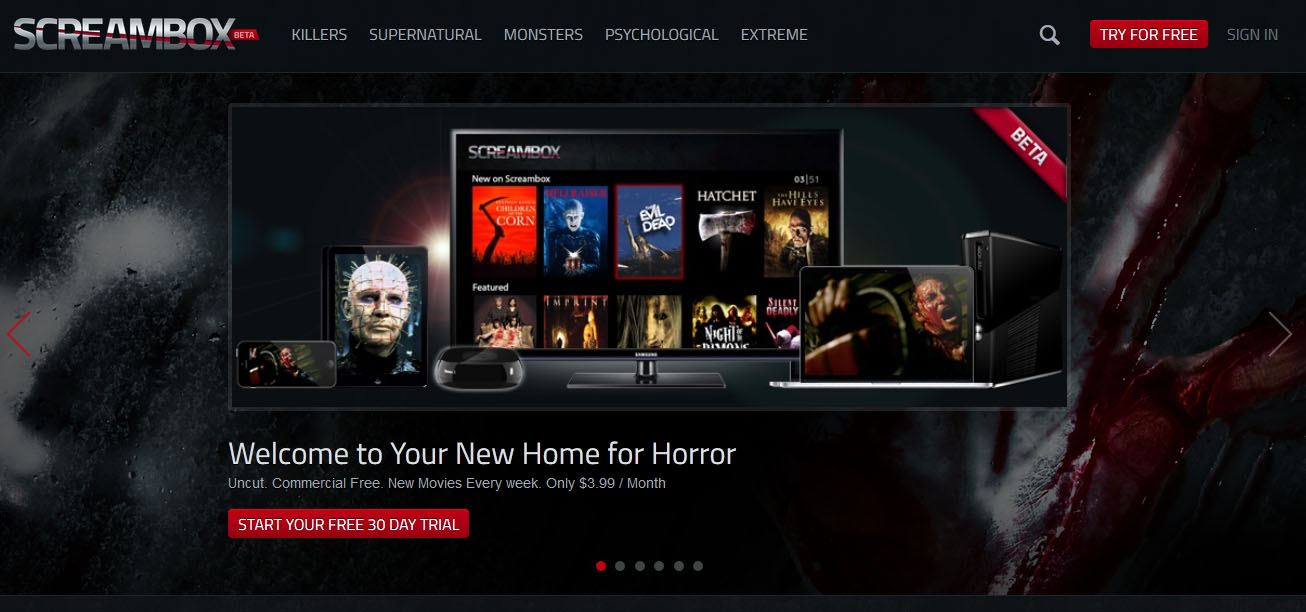 screambox - Screambox Is Like Netflix, Only All The Offerings Are Horror