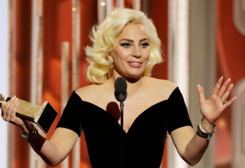 gaga 349x240 - Lady Gaga Wins Golden Globe For American Horror Story: Hotel
