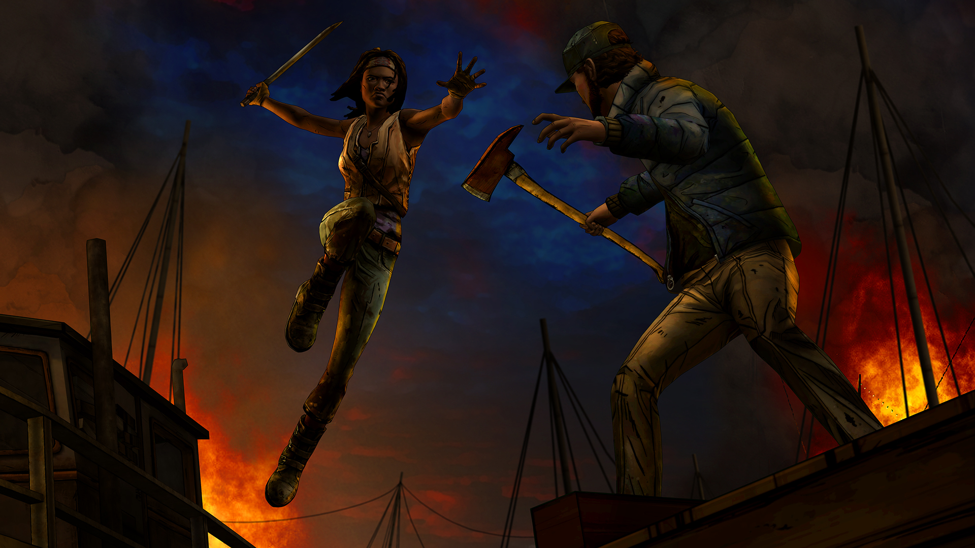 WDM 102 Axe 1920x1080 - New Screens And Trailer From Telltale's Michonne Series