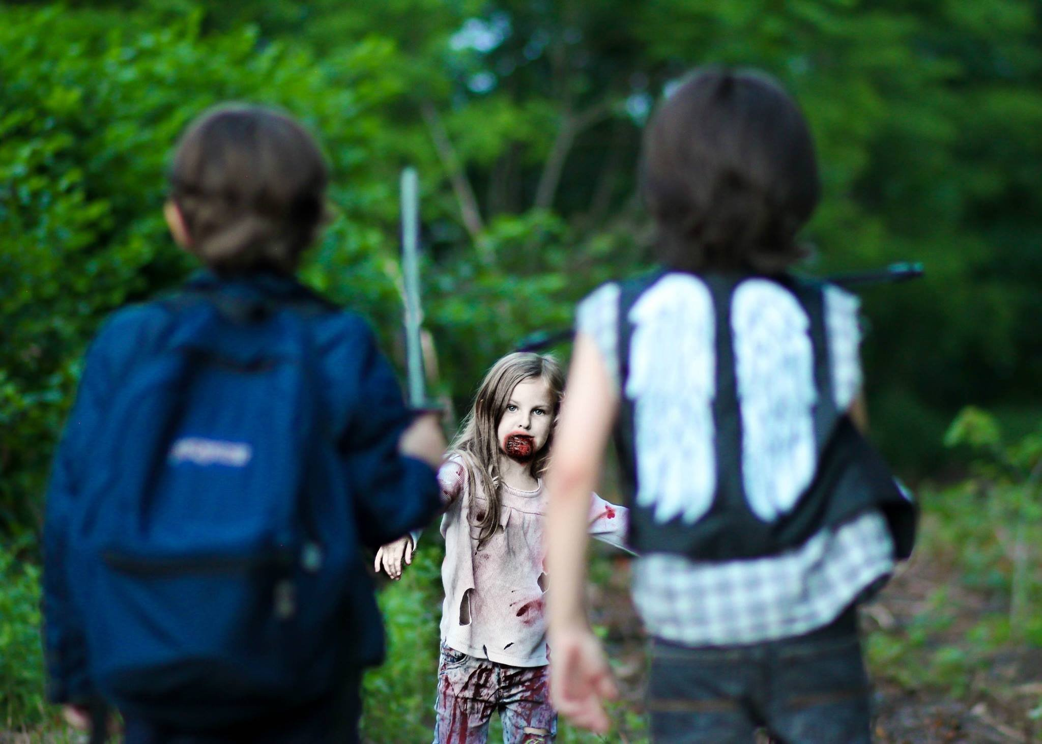 Aaron Daryl Dixon Confront Walker - Not Everyone Is Happy About This Walking Dead Photo Shoot