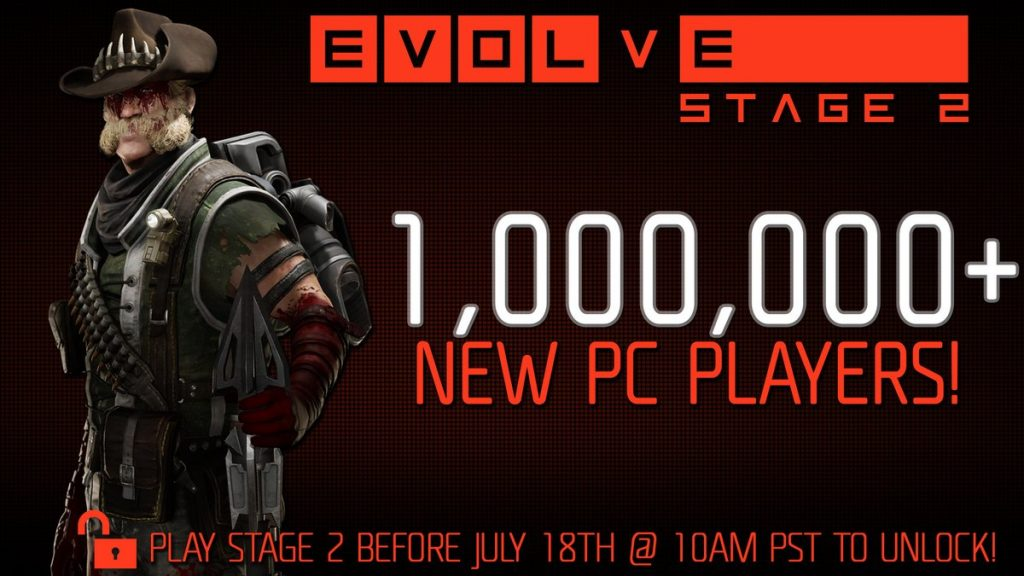 Evolve Stage 2 Attracts 1 Million New Players Since Relaunch
