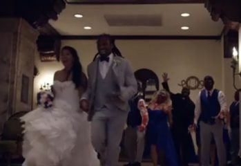 zombiewedding 349x240 - NFL Player Holds Walking Dead Themed Wedding