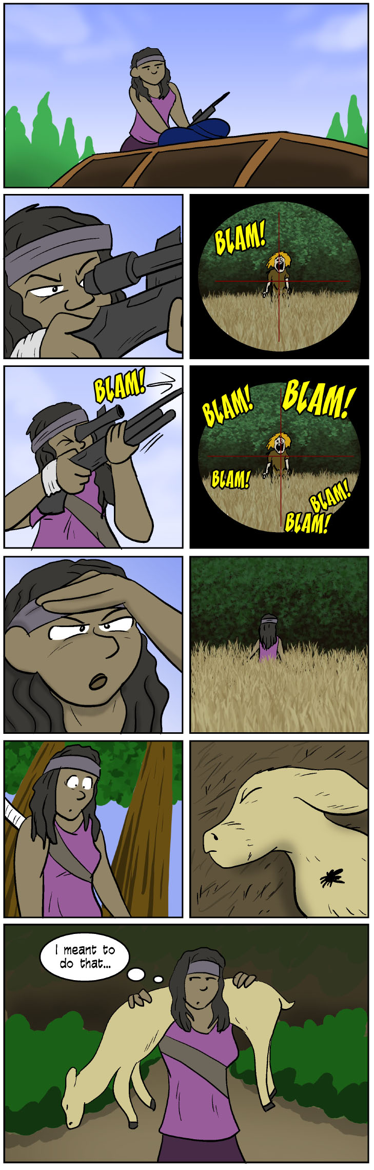 walkingdead3 - Target Practice With Michonne