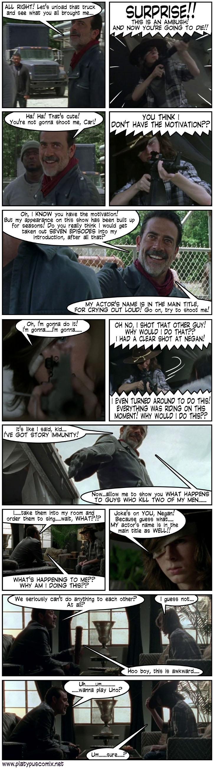 walkingdead6 1 - Carl's Ambush