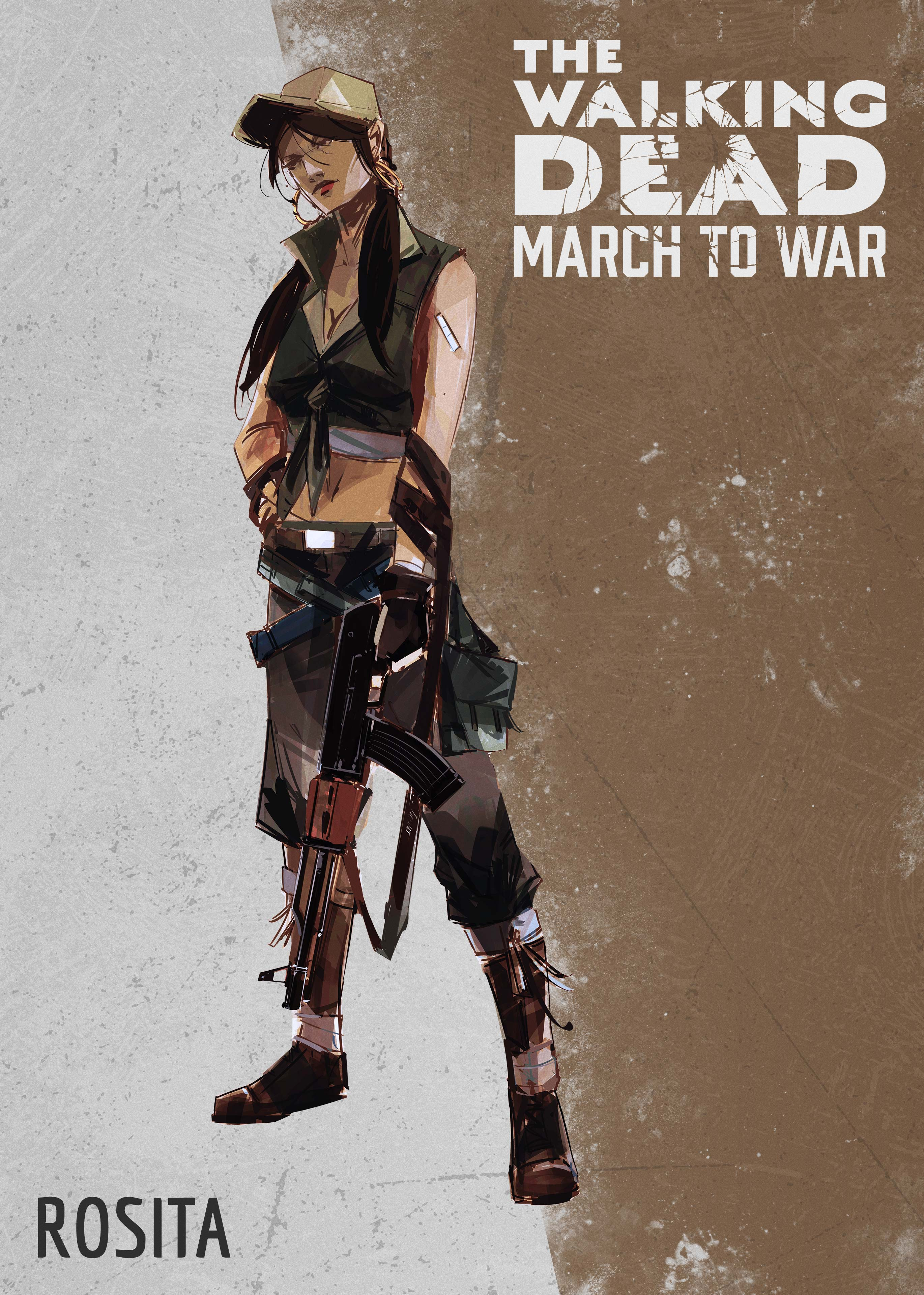Rosita 2 - The Walking Dead: March To War Game Coming Later This Year