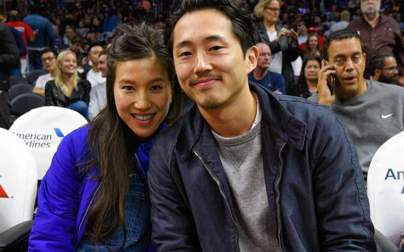 rs 1024x759 161204143238 1024.Steven Yeun Joana Pak Clippers Game.kg .120416 790x494 - Ex-Glenn Steven Yeun Is Now A Father