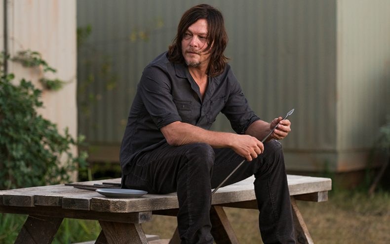 the walking dead episode 714 daryl reedus pre 800x600 790x494 - Two Fibs And One Fact About The Season Finale